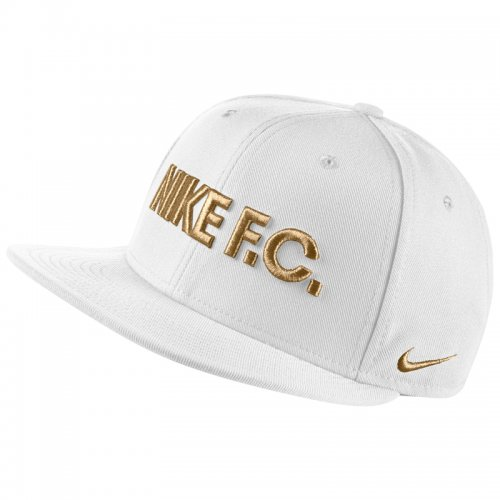 Бейсболка Nike FC True - White/Gold