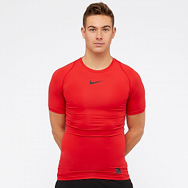 Белье Nike Pro Shortsleeve Compression Top - University Red/Black/Black