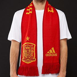 adidas Spain 2018 Home Scarf - Red/Power Red/Bold Gold