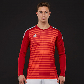 Вратарская футболка Adidas Adipro 18 GK LS Jersey - Power Red/Semi Solar Red/Energy Aqua