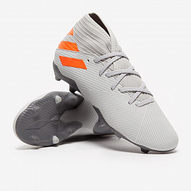 Детские бутсы Adidas Nemeziz 19.3 FG - Grey/Solar Orange