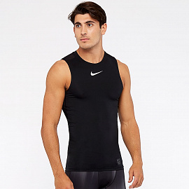 Белье Nike Pro Sleeveless Compression Top - Black/White/White