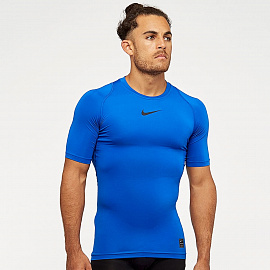 Белье Nike Pro Shortsleeve Compression Top - Game Royal/Black/Black