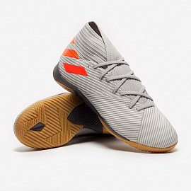 Обувь для зала Adidas Nemeziz 19.3 IN - Grey/Solar Orange/Chalk