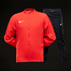 Спортивный костюм  Nike Boys Academy 18 Woven Tracksuit - University Red/Black/Gym Red