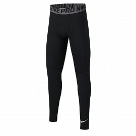 Детское белье Nike Pro Older Training Tights - Black/White