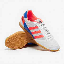 Обувь для зала Adidas Super Sala IN - White/Signal Coral/Glory Blue